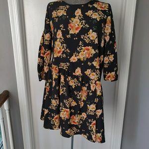 Adorable Zara Long Sleeve Floral Dress Romper M